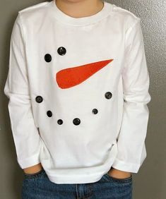 snowman crafts ideas for kids, preschoolers and adults. Homemade snowman crafts to make and sell. Fun and easy snowman projects, patterns. How to make snowmen using clay, paper, felt. Christmas Shirts For Kids, Diy Ugly Christmas Sweater, Tacky Christmas, Ugly Sweater, Christmas T Shirt, Christmas Jumpers, Christmas Tree, Xmas Sweaters, Xmas Shirts