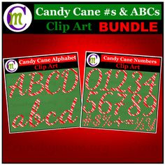 Candy Cane Alphabet & Candy Cane Numbers Clip Art BUNDLESpruce up your holiday posters and Christmas products, create holiday classroom decor, print and use for classroom bulletin boards, make sight word flash cards . . . These Numbers & Alphabet Clip Art sets are perfect for adding a bit of festive to anything you'd like.