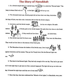 Printables Hanukkah Worksheets hanukkah rebus story worksheets and articles of now we can tell the modern day financial hanukkah