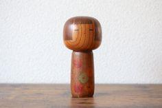Vintage Creative Kokeshi doll by Kokeshi Master Isamu Yamakawa collectors Sosaku Kokeshi