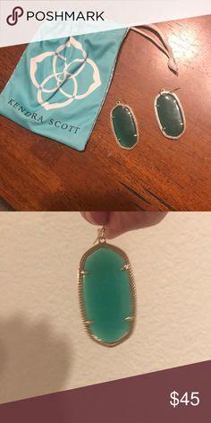Kendra Scott Danielle Earrings Green Green Danielle earrings. Perfect condition Kendra Scott Jewelry Earrings