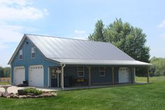 Steel building homes cost pole barn kits near me shop with living quarters floor plans prefab Pole Barn Shop, Pole Barn Kits, Pole Barn Designs, Pole Barn Garage, Pole Barn House Plans, Pole Barn Homes, Garage Plans, Garage Ideas, Carport Garage