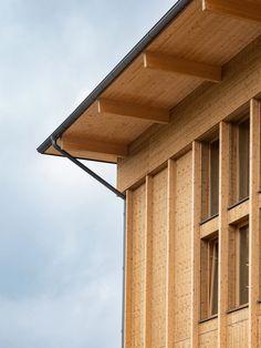 in Sigtuna/ White Arkitekter Wood Facade, Architecture Details, Pergola, Garage Doors, Villa, Exterior, Outdoor Structures, Building, Outdoor Decor