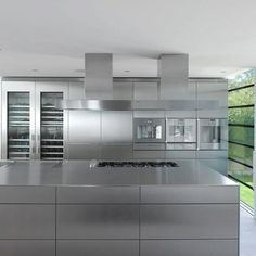 Stainless Steel Kitchen Design groovy modern stainless steel kitchen everything exposed | café
