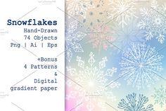 Snowflakes by Alex.artline on @creativemarket
