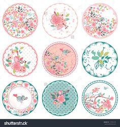 Find Blooming Circle Tags stock images in HD and millions of other royalty-free stock photos, illustrations and vectors in the Shutterstock collection. Decoupage Vintage, Vintage Diy, Printable Stickers, Planner Stickers, Free Printable, Images Victoriennes, Diy And Crafts, Paper Crafts, Bottle Cap Images