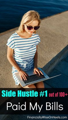 Side income #1 (out of 100+) was so fun and paid many of my bills! Since I was able to increase my income with my home, I was able to increase my savings in a short amount of time.  http://www.financiallywiseonheels.com/extra-ways-to-make-money-from-home/