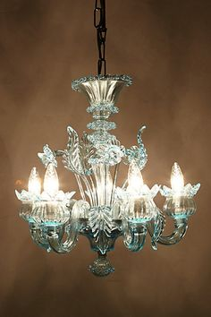 Murano Glass Chandelier - anthropologie.com #anthrofave