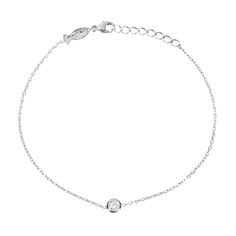 Hugo strass bracelet by Les Soeurs, 925 silver with zirkonia