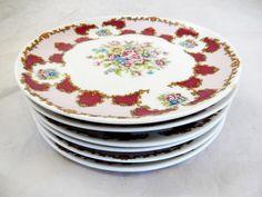 Beautiful Vintage Set of 6 Bavaria Fine Porcelain Dessert Plates Floral Bouquet http://www.thesecondhandplanet.com/ #Beautiful #Vintage #Bavaria #Fineporcelain #Porcelain #dessertplates #Dessert #Plates #Floral #Bouquet