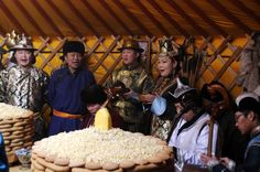 TSAGAAN SAR - Visitors are singing traditional long song to celebrate the festive time. http://www.goyotravel.com/events.html