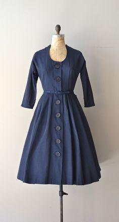 Bellweather dress navy 1950s dress vintage 50s by DearGolden