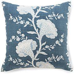 @Overstock.com - Jiti Pillows Geisha Slate Blue Cotton Pillow - Dress up your decor with a bold decorative pillow from Jiti. Crafted by artisans in the United States, this Geisha pillow offers a simple shape with an intricate floral print.  http://www.overstock.com/Main-Street-Revolution/Jiti-Pillows-Geisha-Slate-Blue-Cotton-Pillow/6417920/product.html?CID=214117 $79.99