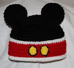 Minnie Mouse Hand Knitted Caps, Cartoon Crochet Baby Caps, Winter ...