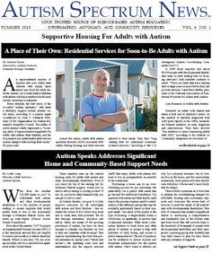 Autism spectrum news summer 2013 issue quot supportive housing for