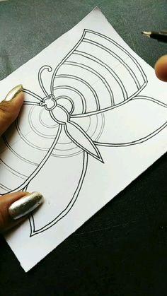 Art Drawings For Kids, Art Drawings Sketches Simple, Pencil Art Drawings, Easy Doodle Art, Doodle Art Designs, Mandala Art Lesson, Mandala Artwork, Doodle Art Drawing, Mandala Drawing
