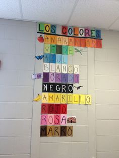 Decorating the classroom. Colors Display- Use paint samples and a sharpie