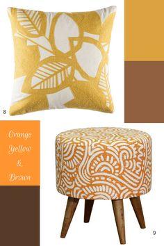 Autumn tones, shop the look today Yellow And Brown, Orange Yellow, Colour Schemes, Autumn, Shop, Color, Design, Colour, Fall