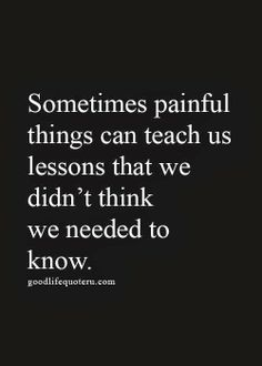 Painful things