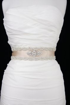 A lovely wedding sash can accentuate the beauty of your wedding dress and add an oomph factor. Explore the super stunning bridal wedding sash ideas. Modest Wedding Dresses, Country Wedding Dresses, Princess Wedding Dresses, Bridal Dresses, Wedding Gowns, 2017 Wedding, Backless Wedding, Wedding Sash Belt, Wedding Belts