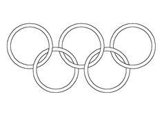 Kleurplaat olympische ringen