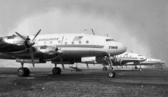 Chicago Midway Airport - TWA - Grounded Constellations During a Strike  (20Feb61)