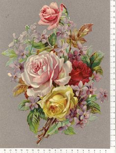Love the floral vintage style for a shoulder piece ♥ Art Floral, Floral Vintage, Vintage Flowers, Vintage Prints, Floral Prints, Vintage Black, Vintage Style, Flower Images, Flower Pictures
