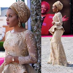 Hello Gorgeous, We are a sucker when it comes to fashion, and we do not shy away from beautiful Aso Ebi outfits. The revamped Aso Ebi outfits have come to give us a run for our money and we are no… Lace Dress Styles, African Lace Dresses, African Dresses For Women, African Attire, African Fashion Dresses, African Women, Nigerian Fashion, Nigerian Bride, Aso Ebi Styles