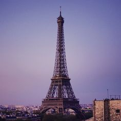 """Going on a trip, no updates for a while. #eiffeltower #dawn #sky #paris #toureiffel #nikon #d7100"""