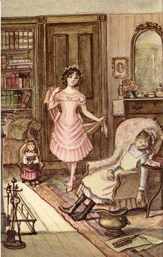 """A Little Princess"" by Frances Hodgson Burnett, illustrated by Tasha Tudor 1963 (http://www.etsy.com/listing/123303318/a-little-princess-by-frances-hodgson?ref=v1_other_2)"