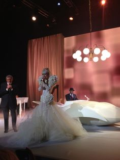 Lady Gaga performing at the White House