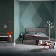 Color Schemes: 5 Apartment Bedroom Decor for Couples - Deciding a color scheme is for an apartment bedroom décor for couples is important for couple-comfort. Take a look at these five color schemes ideas. Accent Wall Designs, Bedroom Wall Designs, Accent Wall Bedroom, Accent Decor, Accent Walls, Wall Paint Colour Combination, Home Interior Design, Interior Decorating, House Paint Interior