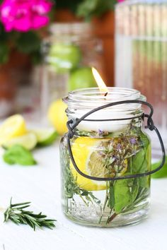 How To Make a Citronella Candle in a Mason Jar   Kitchn