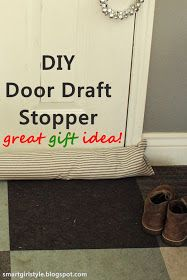 smartgirlstyle: DIY Gift Idea: Door Draft Stopper