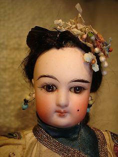 EXTREMLY-RARE-FRENCH-FASHION-DOLL-ASIATIC-JAPONESE-FACE-14-PERFECT-CONDITION