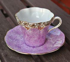 vintage tea cups, Montrose Bone china England