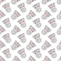 Teddy bear pattern 1 fabric by gribanessa on Spoonflower - custom fabric