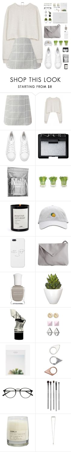 """micro"" by nut-and-nude ❤ liked on Polyvore featuring Organic by John Patrick, H&M, NARS Cosmetics, MILK MAKEUP, NDI, Pieces, Deborah Lippmann, Pomax, Aesop and Eddie Borgo"