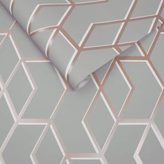 Archetype Grey & Rose Gold Wallpaper | Graham & Brown UK