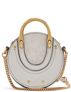 f56625f6a0a1 CHLOÉ Pixie mini leather and suede cross-body bag