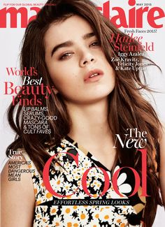 Hailee Steinfeld Pose on Marie Claire Magazine May 2015 Cover shoot