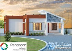 Two Story 1490 sq ft 3 Bedroom Home Plan on