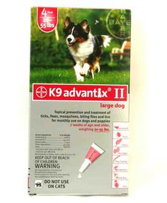 K9 Advantix II - Flea and Tick Control for Dogs - 4 Month Supply