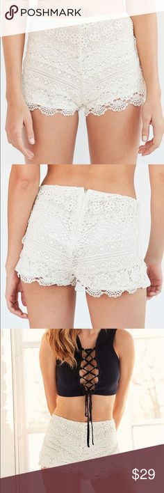 Crochet Shorts by Kimchi Blue (White/Creme) Brand new with tags no defects. Smoke free pet friendly. Additional pictures of actual item available by request. ➡️Reasonable offers welcome Urban Outfitters Shorts
