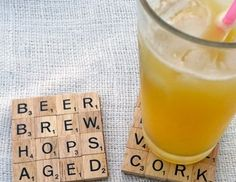 DIY Scrabble Drink Coaster