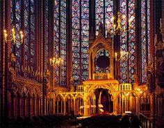 Sainte Chapelle is a gorgeous chapel in Paris, with huge stained glass windows. I actually like it better on the inside than Notre Dame, I am Very not religious but I did enjoy standing in the center of all that stained glass with the sun coming in.