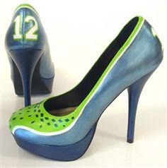 d4f784f5951 12th Woman - Seattle sports fan inspired hand painted shoes by Hourglass  Footwear. Seahawks Gear