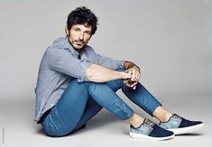 Spanish model Andres Velencoso goes casual in denim for Xti's spring-summer 2017 campaign.