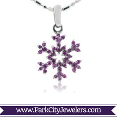 Pink Sapphire Pave Snowflake Necklace  14K White Gold .20ctw Pave Pink Sapphire Snowflake Necklace Snowflake Jewelry, Pink Sapphire, Hue, Belly Button Rings, Snowflakes, White Gold, Jewels, Diamond, Pendant