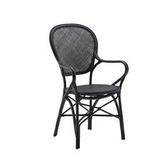 The Rossini chair is a classic rattan bistro dining chair. The Rossini bistro arm chair features a rattan frame and woven rattan seat and back. Outdoor Dining Chairs, Dining Arm Chair, Patio Chairs, Dining Room, Arm Chairs, Adirondack Chairs, Bamboo Chairs, Accent Chairs, Side Chair